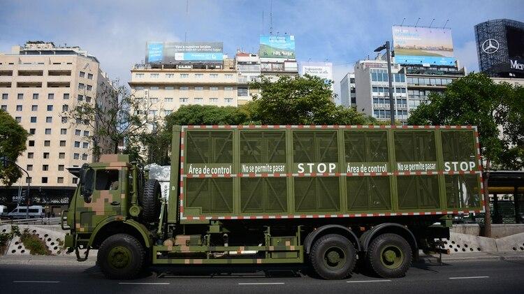 El camión que transporta la Supervalla se vio por primera vez durante el operativo de seguridad del G20 (foto de archivo. Franco Fafasuli)