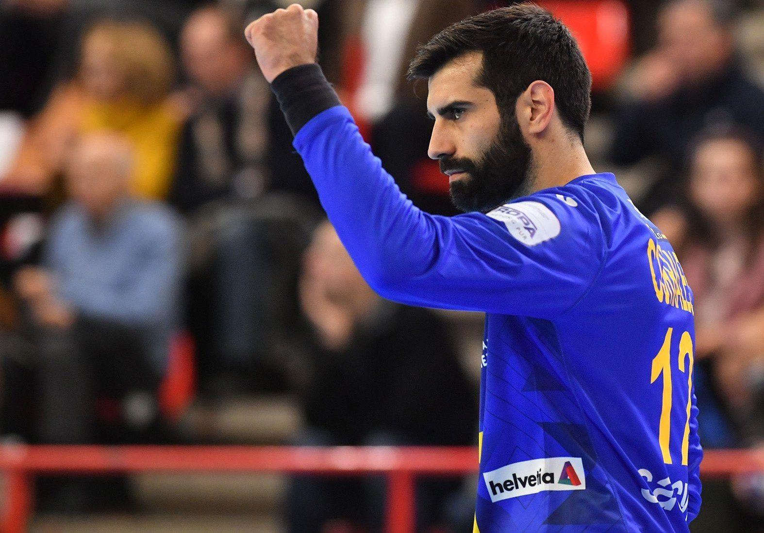 09/01/2020 Rodrigo Corrales, durante un partido con la selección española de balonmano. DEPORTES RFEBM / Á. BERMEJO