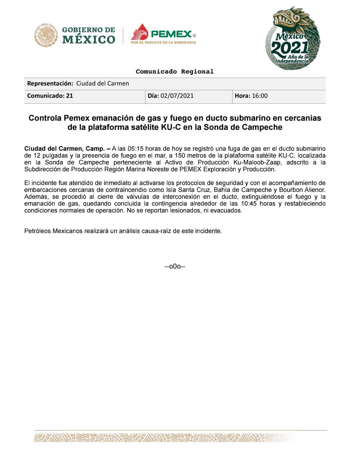 Incendio en Campeche Pemex