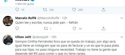 El mensaje de Ulises Jaitt al que reaccionó Matías Defederico