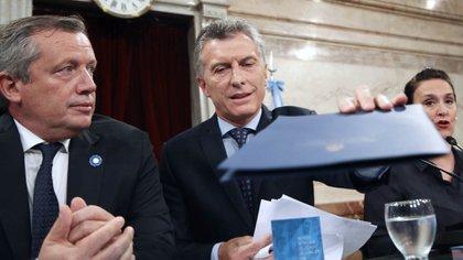 El presidente Mauricio Macri, al inaugurar el 135° periodo de sesiones ordinarias del Congreso de la Nacion (NA)