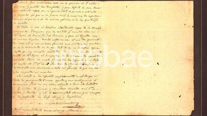 La segunda y última parte de la carta de San Martín a O'Higgins
