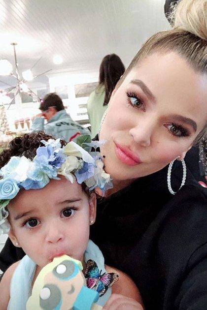 Khloe Kardashian junto a su sobrina Dream (Foto: Instagram)