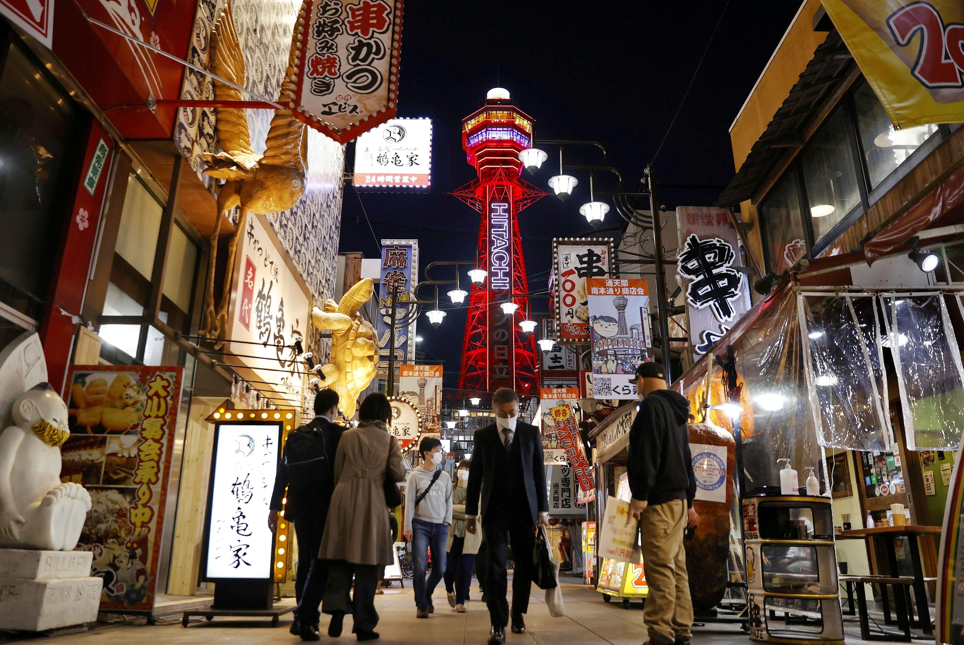 Osaka, la segunda ciudad más habitable para vivir según The Economist.  Foto de Kyodo / via REUTERS