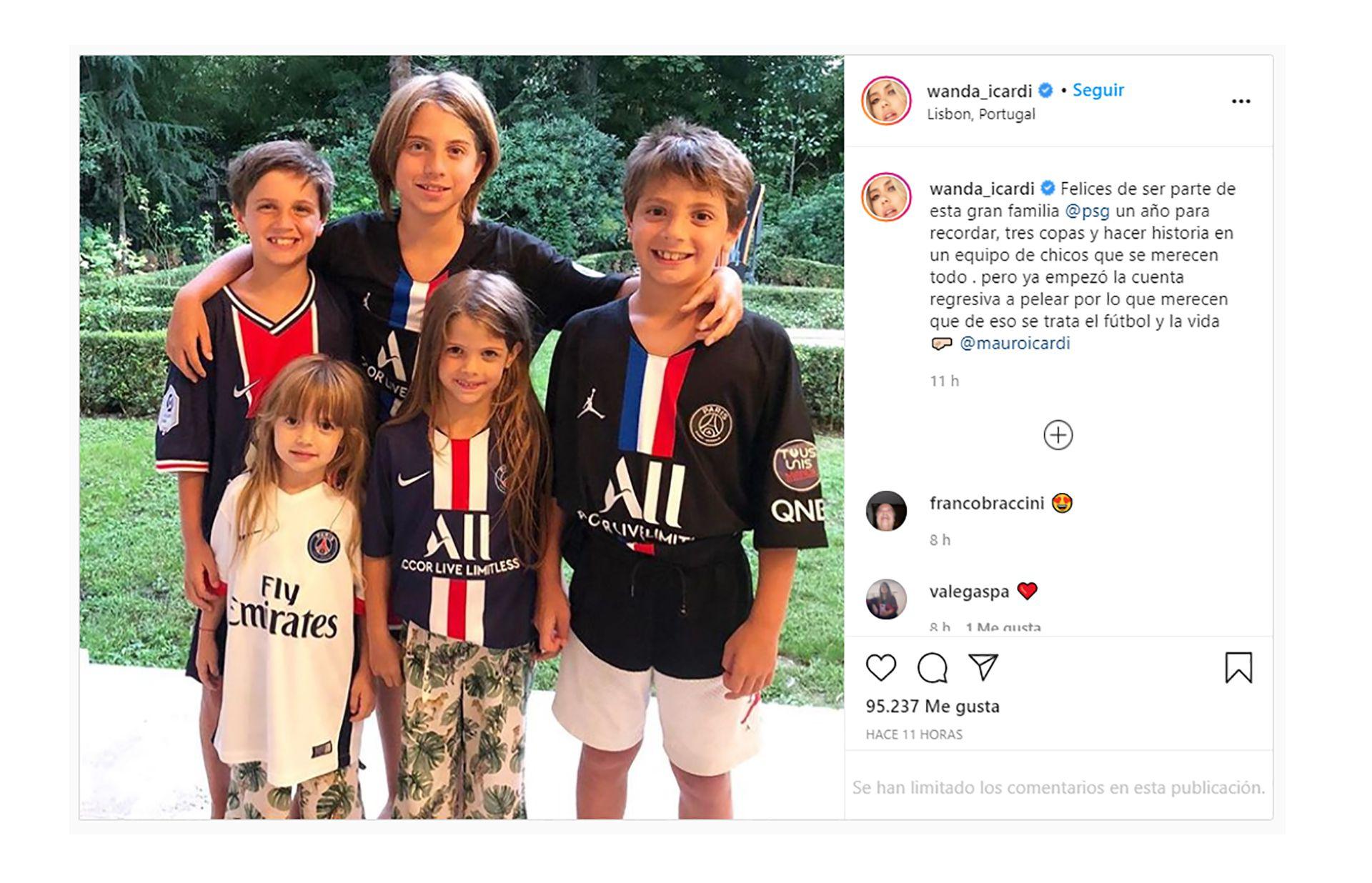 post de Wanda Nara para Mauro Icardi tras la final de Champions League