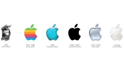 El logo de Apple y sus creadores según pasan los años. El primero, diseñado por Ron Wayne (socio de Jobs y Wozniak en la prehistoria de la compañía) con Newton sentado bajo el manzano (Foto: Sitio Rob Janoff)