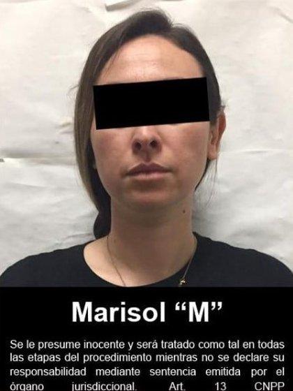 Marisol N detenida en 2019 (Foto: Twitter@FGRMexico)