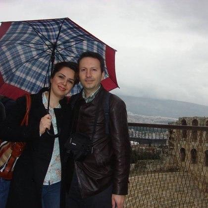 Ahmadreza Djalali con su esposa, Vida (Facebook)