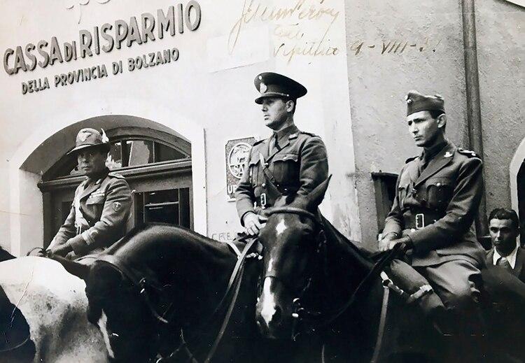 El coronel Perón en Italia