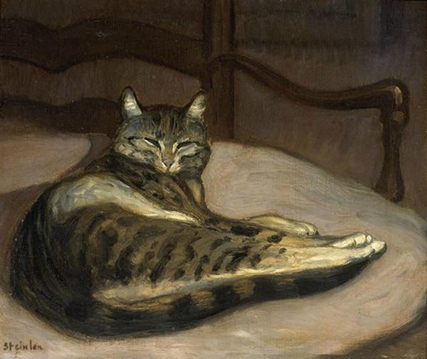 Gato sobre un sillón, Théophile Alexandre Steinlen, 1878, musée d'Orsay, Paris.