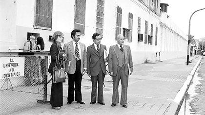 Visita a una cárcel argentina de la Comisión Interamericana de Derechos Humanos (CIDH) en 1979