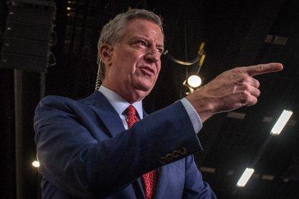 En la imagen, el alcalde de Nueva York, Bill De Blasio. EFE/Giorgio Viera/Archivo