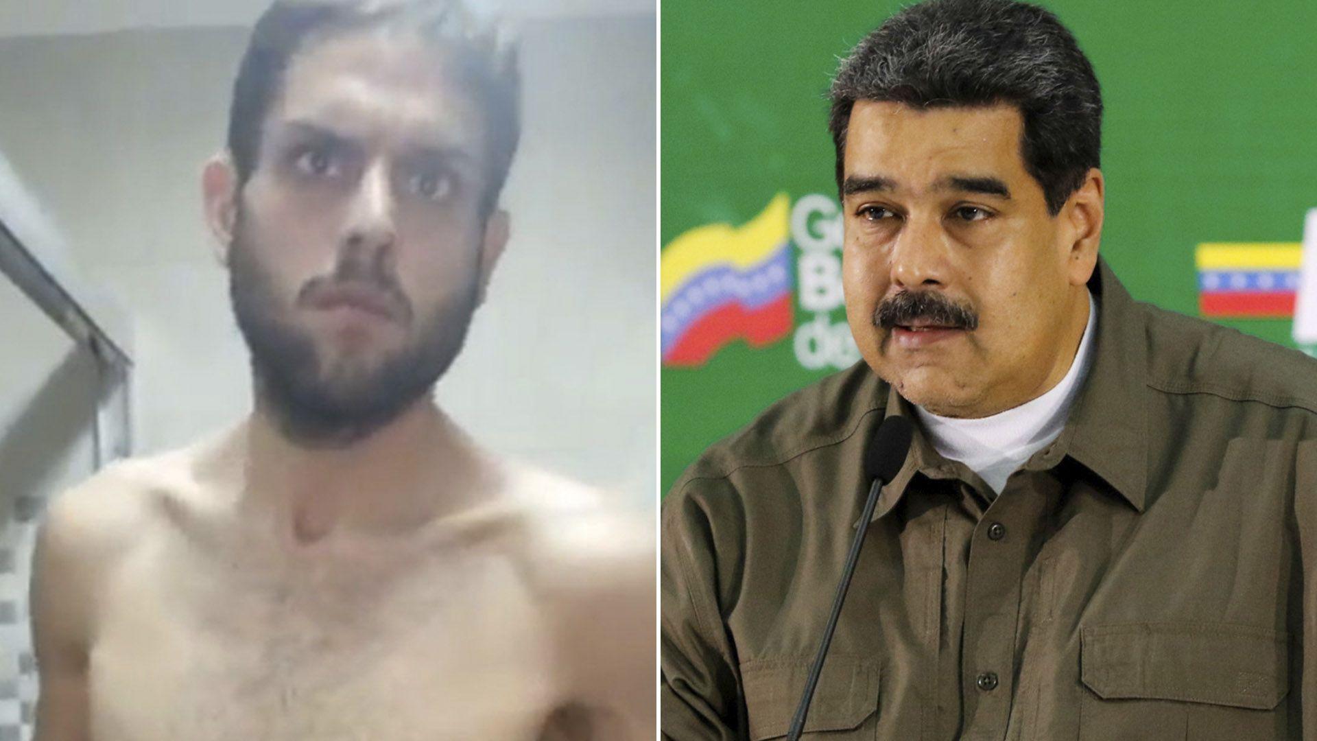 Juan Requesens y Nicolás Maduro