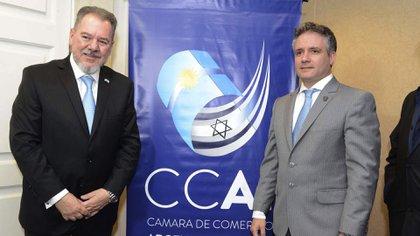 Mario Montoto y Marcelo D'Alessandro, secretario de Seguridad de la Ciudad de Buenos Aires