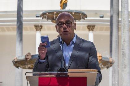 El jefe del Parlamento de Venezuela, el oficialista Jorge Rodríguez. EFE/MIGUEL GUTIÉRREZ/Archivo