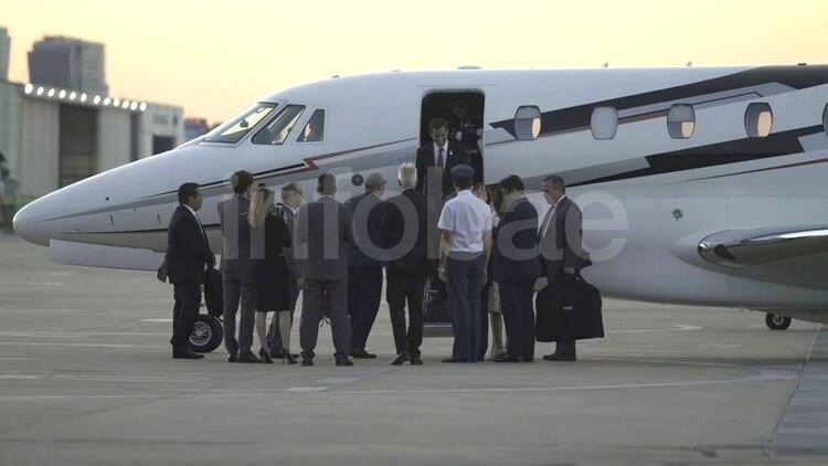 Juan Guaidó aterrizó en el Aeroparque Internacional Jorge Newbery, en Buenos Aires (Foto: Pablo Barrera Calo)