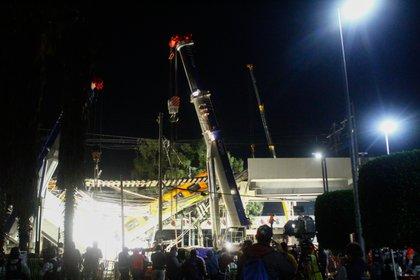 Estación Olivos de la línea 12 del Sistema de Transporte Colectivo Metro tras presentar un colapso. Ciudad de México, 4 de mayo de 2021 (Foto: Karina Hernández/ Infobae)