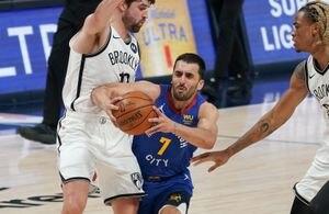 Un triple inesperado, 19 puntos y 5 asistencias: el partido de Facundo Campazzo en la derrota de Denver ante Brooklyn Nets en la NBA