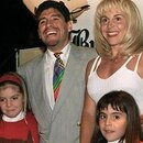 ****inte1(FILES) Combo of Argentine football legend Diego Maradona at the peak of his career, displaying the World Soccer Cup won in Mexico 86 (L and R), during a training session of Mexico«s World Cup (C-top), and with his family - his then wife Claudia Villafañe and their daughters Dalma y Gianina - on October 1985 celebrating his birthday. Maradona, who came close to death with heart and lung problems last month, was back in intensive care in hospital on May 05, 2004, suffering from indigestion. The 43-year-old 1986 World Cup winning captain was readmitted to the Suizo-Argentina hospital in Buenos Aires where he was treated from April 18 to 29. AFP PHOTO****