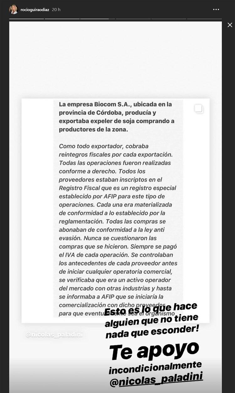Rocío publicó el comunicado que difundió su marido sobre este escándalo