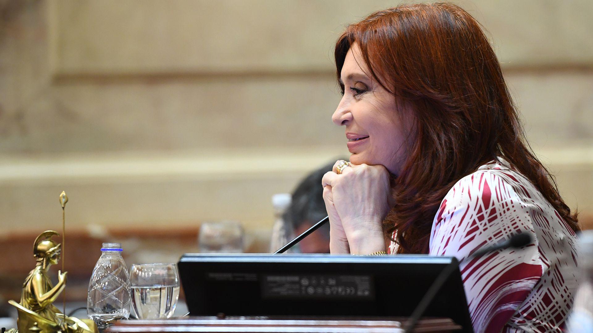 Cristina Kirchner celebró en las redes sociales el fallo de la Corte (Fotografia Senado de la Nación)
