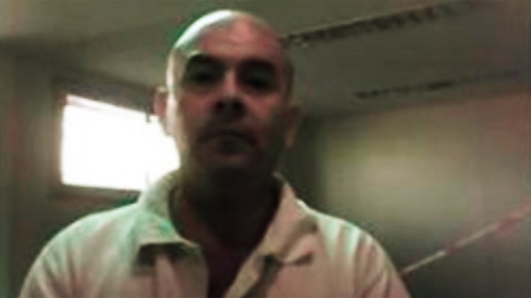 Alberto Gustavo Maldonado, en foto de su ficha de chofer.