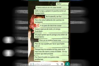 Los mensajes de Paula Giménez a un presunto familiar de su último novio