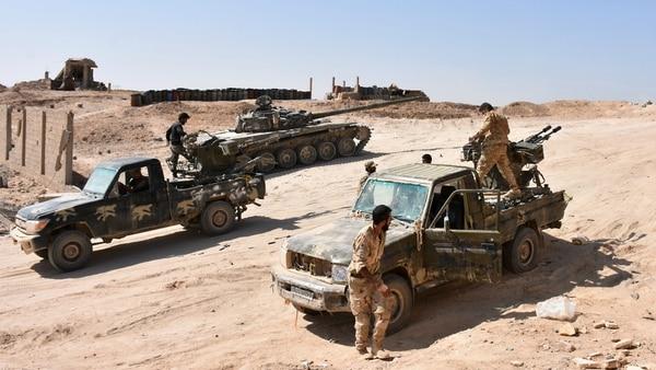 Tropas del régimen sirio (AFP)