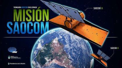 El Saocom 1B es un satélite de órbita baja con fines científicos y llevará un radar de apertura sintética (SAR)