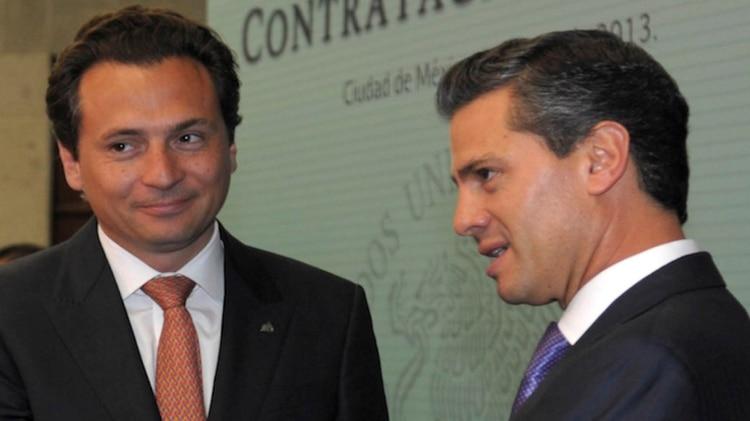 Lozoya, junto al presidente Enrique Peña Nieto, que lo nombró en 2012 (Foto: Cuartoscuro)