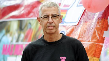 César Cigliutti es el presidente de la Comunidad Homosexual Argentina y fue uno de los corazones detrás de la Primera Marcha del Orgullo, hace 27 años (Télam)