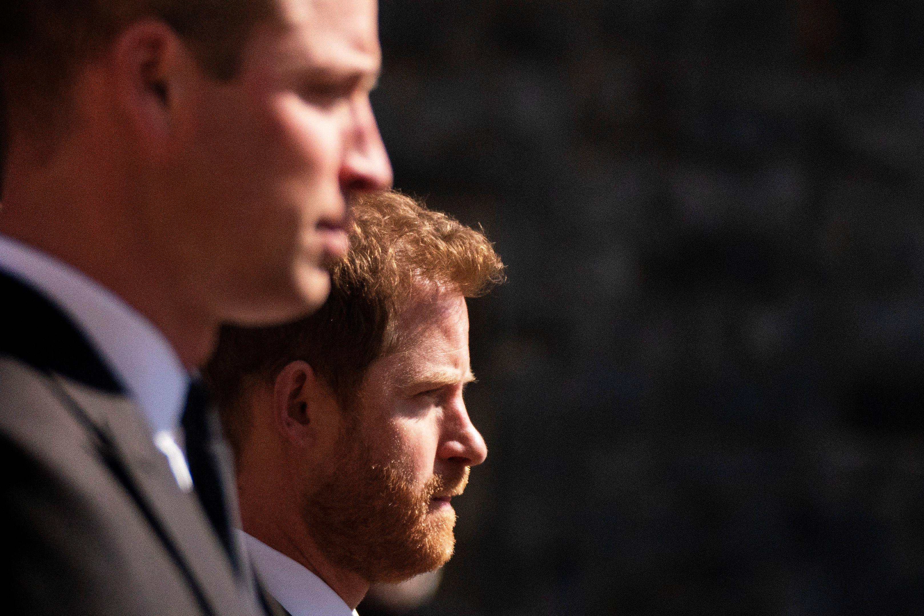Funeral Principe Philip - Harry y William