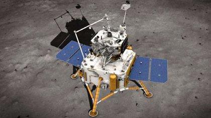 El módulo Chang'e 5 funciona con energía solar y no puede operar una vez que caiga la noche en su ubicación lunar