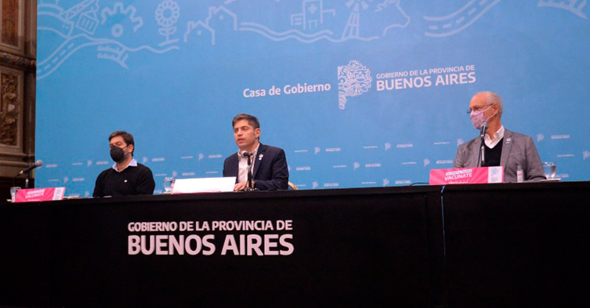 Kicillof dará una conferencia con anuncios, luego de pasar los 4 millones de vacunados