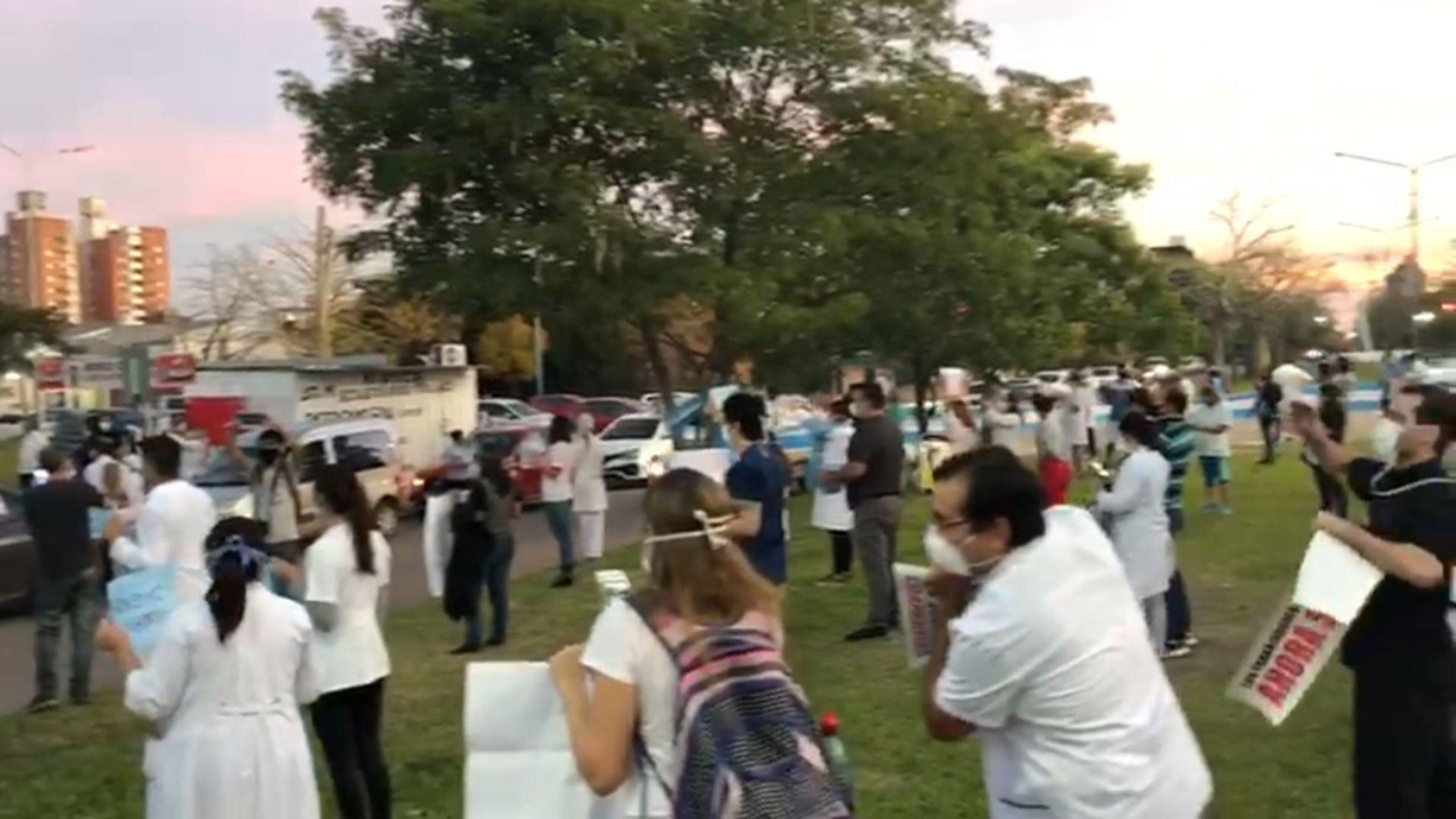 Protesta Médicos Chaco