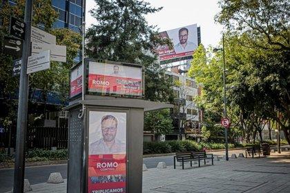 Publicidad del segundo informe de Víctor Jugo Romo (Foto: Mexicanos Contra la Corrupción/ Ginnette Riquelme)