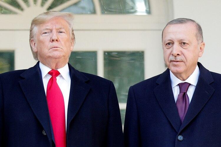 Trump estuvo reunido con Recep Erdogan en la Casa Blanca (Reuters)
