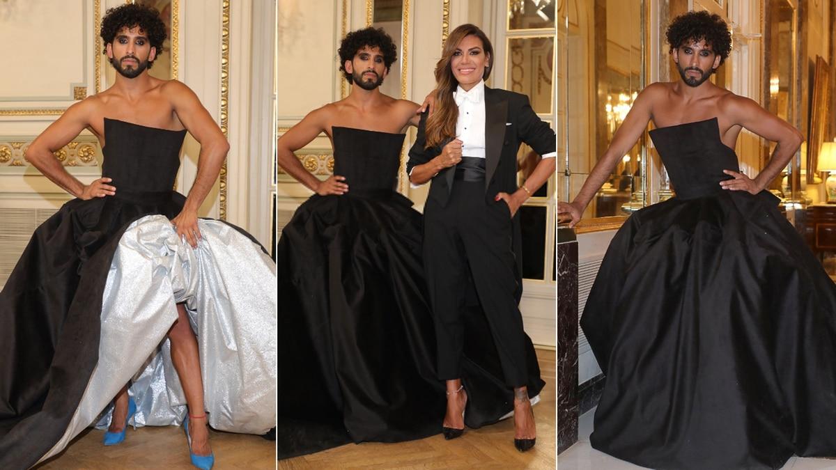 """Vestido largo y tacos, el particular look de Gabo Usandivaras en la foto del """"Bailando"""" para dar un mensaje de liberación"""