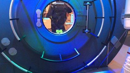 En el stand de Hewlett Packard montaron una réplica de la Estación Espacial Internacional