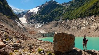 El glaciar Torrecillas en el Parque Nacional Los Alerces (Foto: NA)