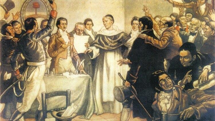 El instante que inmortalizó a Laprida: el 9 de julio de 1816 cuando se declaró la independencia.
