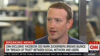 Zuckerberg también respondió sobre si Facebook debería ser regulado – CNN captura