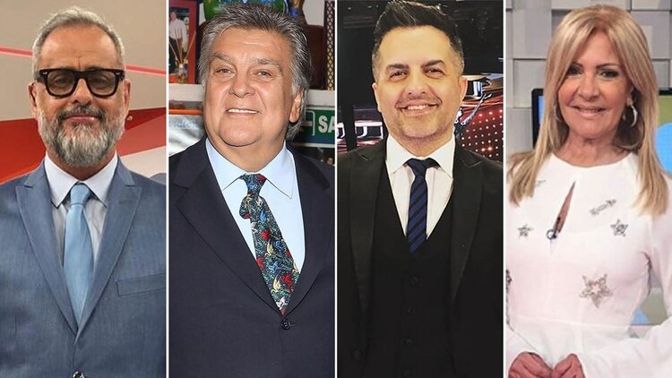 Jorge Rial, Luis Ventura, Ángel de Brito y Susana Roccasalvo