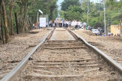 Indígenas de Chiapas manifestaron su rechazo al Tren Maya y exigieron sean resueltas sus demandas históricas (FOTO: CUARTOSCURO.COM)