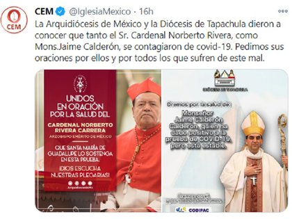 (Foto: Twitter @IglesiaMexico)
