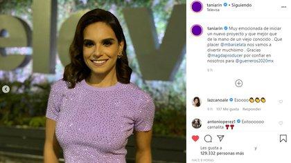 La ex reina de belleza michoacana dijo sentirse emocionada de integrarse a este proyecto (Foto: Instagram @TaniaRin)