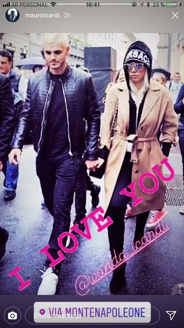 """El """"I Love You"""" de Mauro. (Foto Instagram)"""