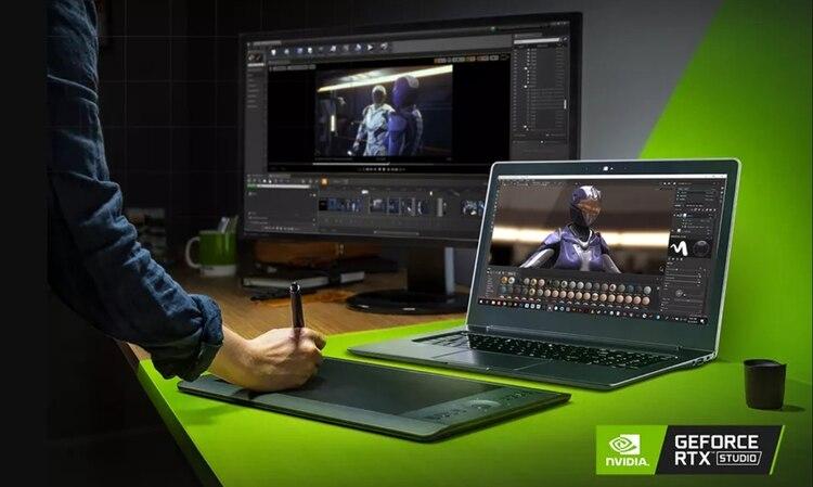Según Nvidia, las laptops que son parte de RTX Studio pueden llegar a ser hasta siete veces más rápidas que una MacBook Pro.