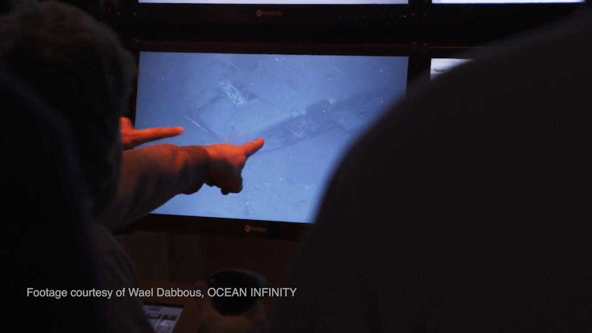 Imagen del submarino ARA San Juan en el lecho marino