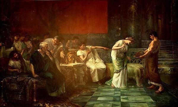 La venganza de Fulvia, por Francisco Maura (1888). Vía Wikimedia Commons